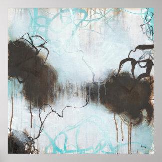 Poster Na tempestade - expressionism abstrato quadrado