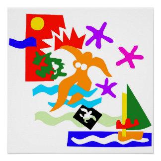 Pôster Nadador do verão - poster