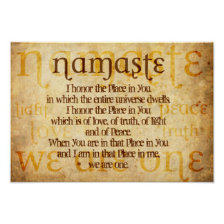 Pôster Namaste