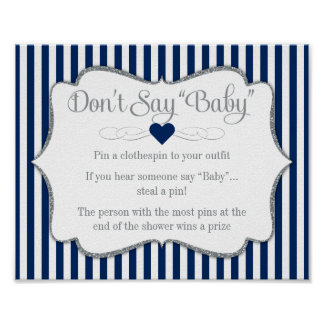 Poster Não diga o menino da prata dos azuis marinhos do