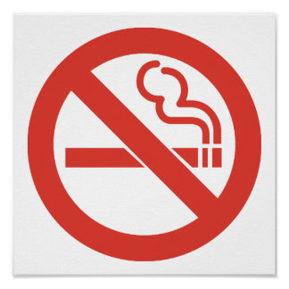Poster não fumadores