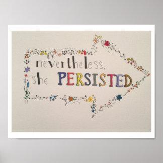 """Poster """"Não obstante, persistiu. """""""