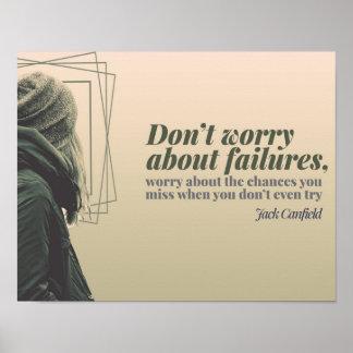 Pôster Não se preocupe sobre falhas