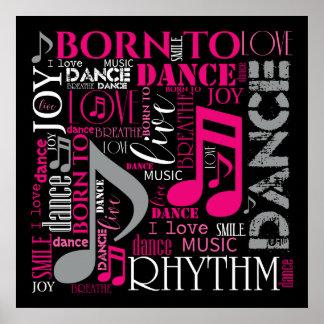Pôster Nascer para dançar ID277 cor-de-rosa