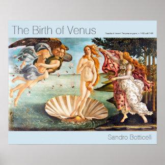 Poster Nascimento restaurada e de Recolored Botticelli de