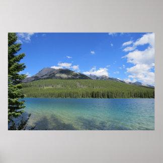 Poster natural da paisagem de Banff Pôster