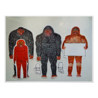 Poster Neanderthal & 3 amigos,