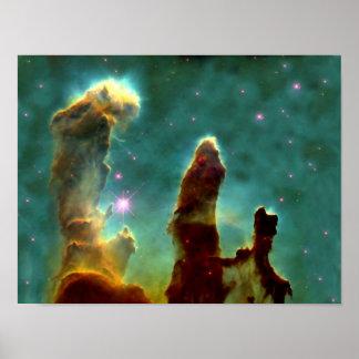 Poster Nebulosa de M16 Eagle ou colunas da criação