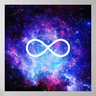 Poster Nebulosa do símbolo da infinidade