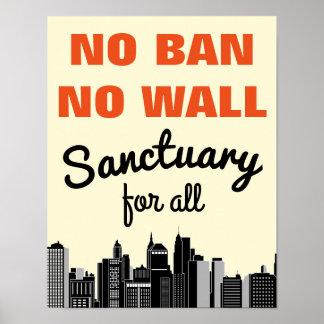 Poster Nenhuma proibição nenhuma proibição imigrante da