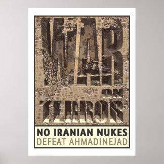 Poster Nenhumas armas nucleares iranianas