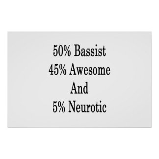 Pôster Neurotic 45 impressionante e 5 baixista de 50