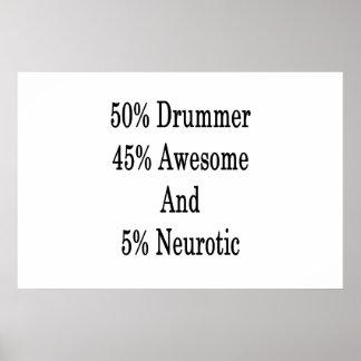 Pôster Neurotic 45 impressionante e 5 baterista de 50