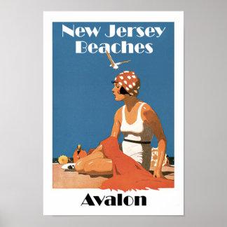 Pôster New-jersey encalha o ~ Avalon