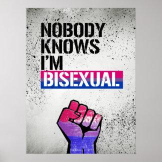Pôster Ninguém sabe que eu sou - - os direitos bissexuais
