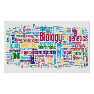 Poster No. 13 de Wordle da biologia