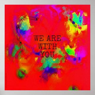Poster Nós somos com você abstrato do coração da