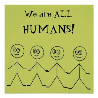 Pôster Nós somos TODO O design bonito da igualdade dos