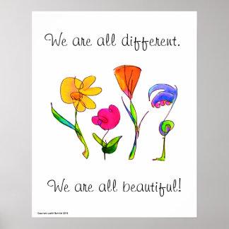 Pôster Nós somos tudo diversidade diferente & bonita