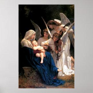 Poster Nossa canção da senhora Virgem Maria dos anjos