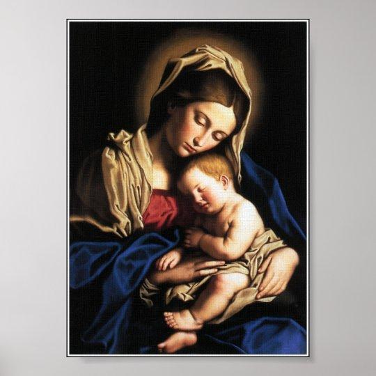 Poster Nossa Senhora e o menino Jesus