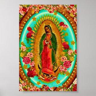 Poster Nossa Virgem Maria mexicana do santo da senhora