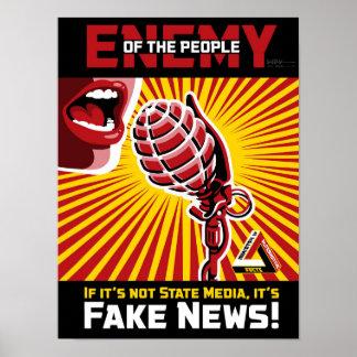 Poster Notícia falsificada