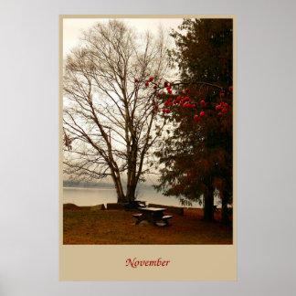 Pôster Novembro no parque