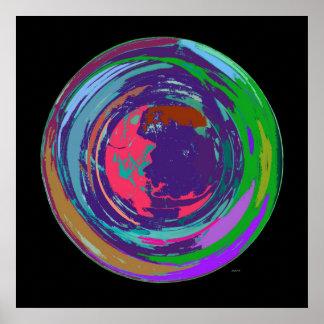 Poster novo do Expressionism abstrato do mundo Pôster