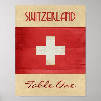 Pôster Número da mesa da suiça
