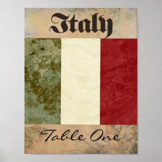 Poster Número da mesa de Italia