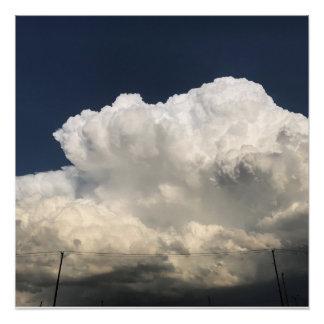Pôster nuvens acima