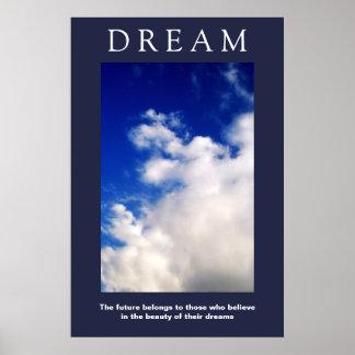 Poster Nuvens inspiradores ideais, atitude do céu azul