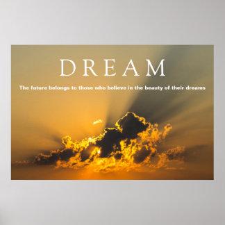 Pôster Nuvens inspiradores ideais, céu & por do sol