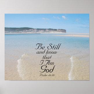 Pôster O 46:10 do salmo seja ainda e saiba que eu sou