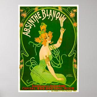 Pôster O absinto Blanqui por Nover - 1901
