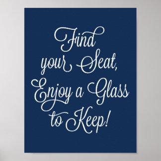 Poster O achado do marinho seu Seat aprecia um vidro para