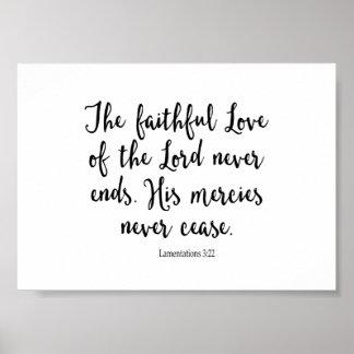 Pôster O amor fiel do senhor Nunca Extremidade