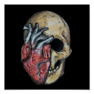 Poster O amor ou morre crânio