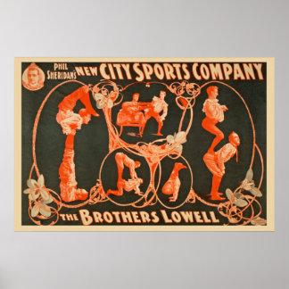 Pôster O anúncio publicitário de Irmãos Lowell Esportes