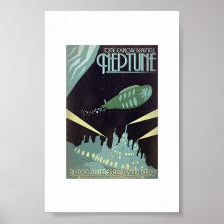 Poster - o art deco explora Netuno bonito