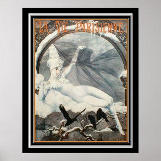 Pôster O art deco Vie o inverno 1926 16 x 20 de