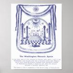 Poster O avental maçónico de George Washington