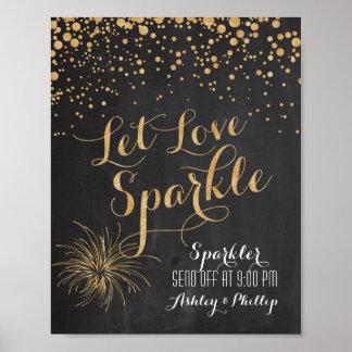 Pôster O brilho do giz deixou a faísca do amor, Sparkler
