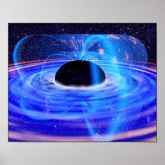 Poster O buraco negro azul da NASA