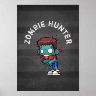 Pôster O caçador do zombi com o Splatter do sangue