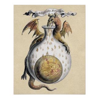 Pôster O cadinho do dragão da alquimia