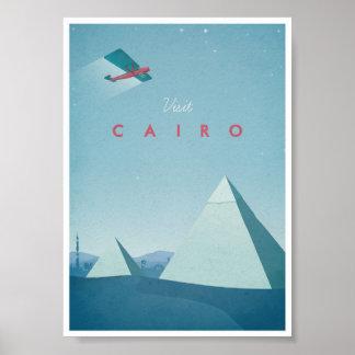 Poster o Cairo das viagens vintage Pôster