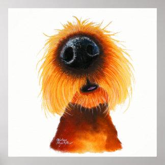 """Pôster O cão Nosey """"CHEIROS gosta da luz do sol"""" pelo Mac"""