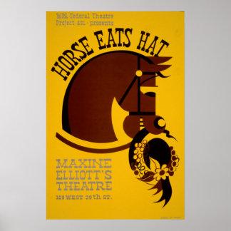 Pôster O cavalo come o teatro 1940 federal do vintage de